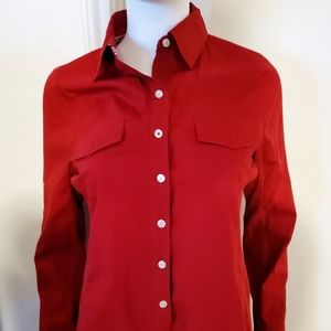 Converse One Star Red Button Down top